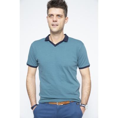 Polo Shirt Green / Blue - Brooklyn Razor