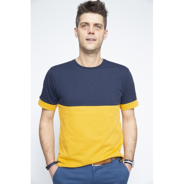 T-shirt Yellow/Navy - Brooklyn Razor