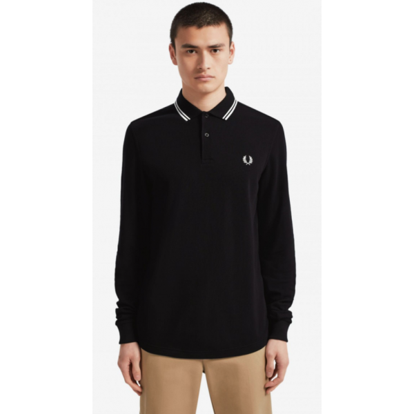 Fred Perry Long Sleeve - Black/White