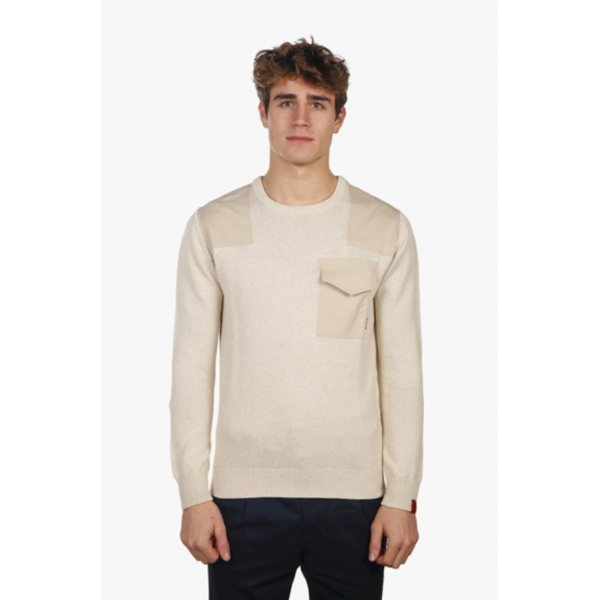 Antwerp Patched Crew Neck Jumper