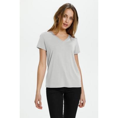 soaked in luxury V-neck shirt Broken white